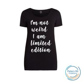 Dames T-shirt R-hals korte mouwen   NOT WEIRD LIMITED EDITION