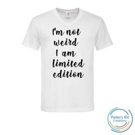 Heren T-shirt V-hals korte mouwen | NOT WEIRD LIMITED EDITION