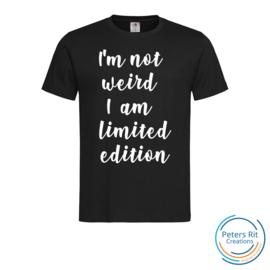 Heren T-shirt R-hals korte mouwen | NOT WEIRD LIMITED EDITION