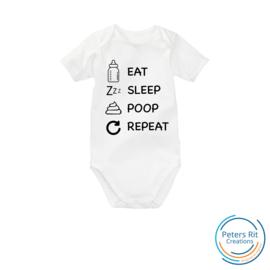 Romper korte mouw | EAT SLEEP POOP REPEAT