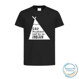 Kinder T-shirt korte mouwen | BE AN INDIAN