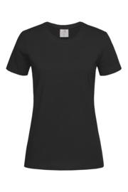 Dames T-shirt R-hals korte mouwen