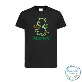 Kinder T-shirt  korte mouwen | DINO MET NAAM geborduurd/bedrukt