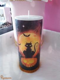 Halloween black cat kaars