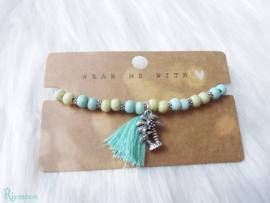 Beach armband met palmboom