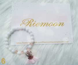 White Crystal Angel Armband