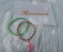 Flamingo armband setje