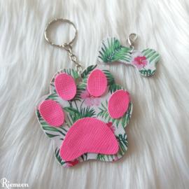 Tropical Pink sleutelhanger setje