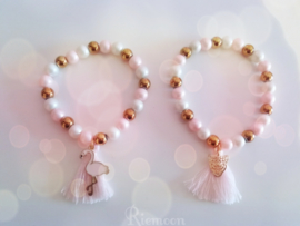 Luxe Trendy Pink/Light pink armbanden