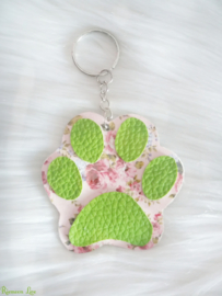 Kawaii Flower hondenpoot sleutelhanger