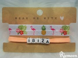 Zomerse Elastische Flamingo Ananas Ibiza armbanden setje