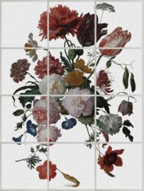 Systeemplafond print FLORAL kleur (set van 12)