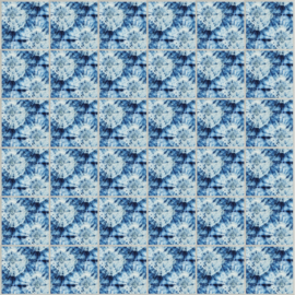 Systeemplafond print POPPY BLUE