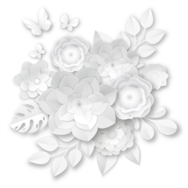 Systeemplafond print 3d FLOWER