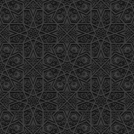Systeemplafond print BLACK ORNAMENT