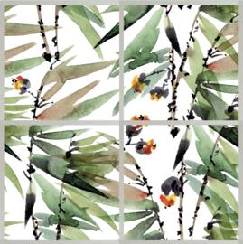 Watercolor Leaves (set van 4)