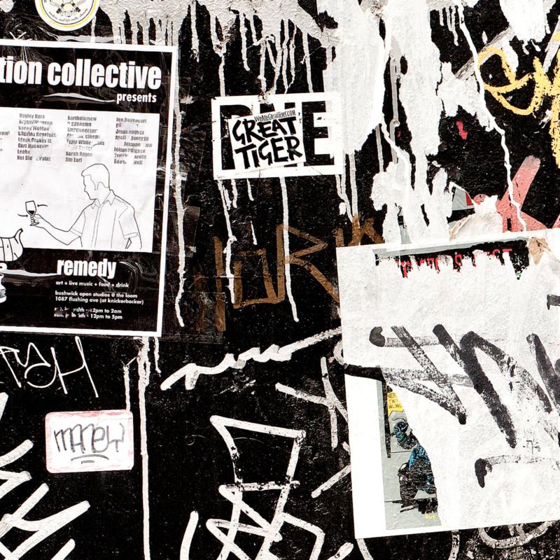 Plafondprint NEWYORK TAGS (set van 8)