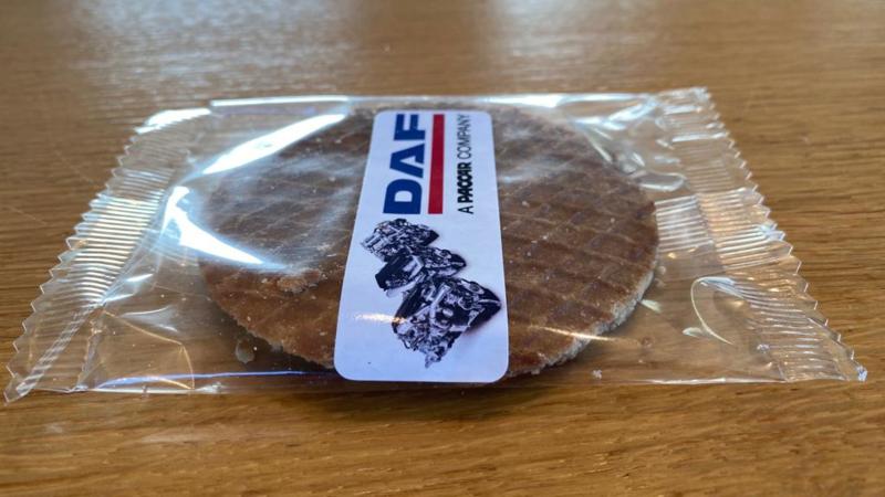 Stroopwafel per stuk verpakt met of zonder logo