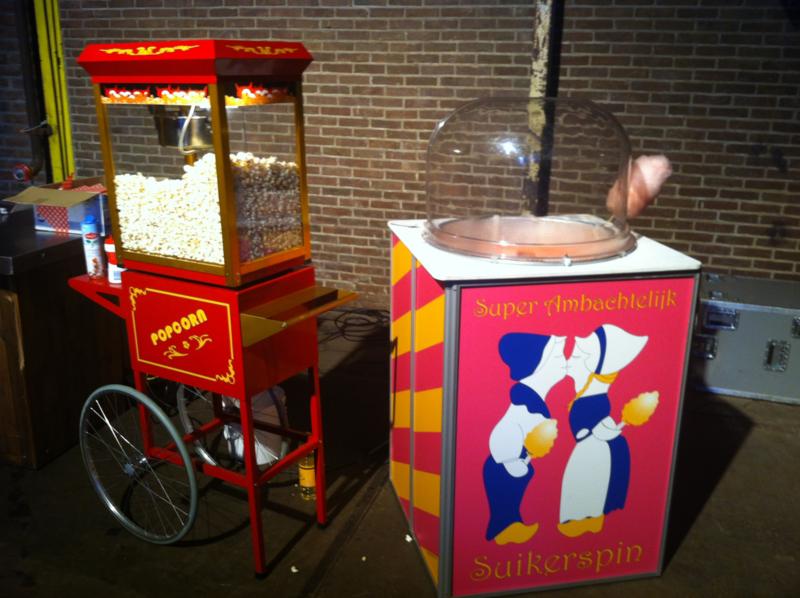 Popcorn en suikerspin huren