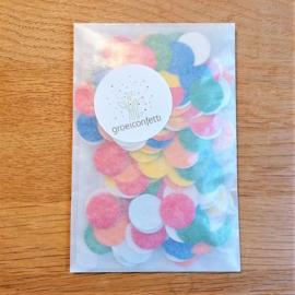 5 gram confettirondjes 2 cm | bonte mix | veldbloemen