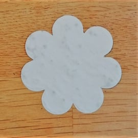 Groeipapier 6 cm |  gebroken wit | vergeet-mij-nietjes