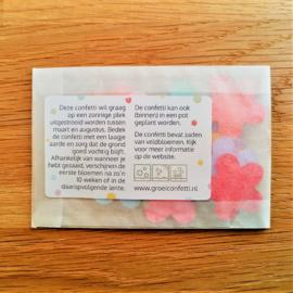 Sticker | confetti met zaden van veldbloemen