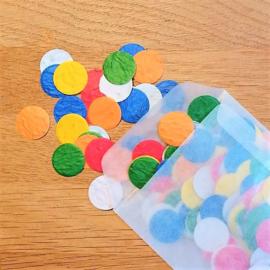 5 gram confetti rondjes 2 cm | zaden van veldbloemen