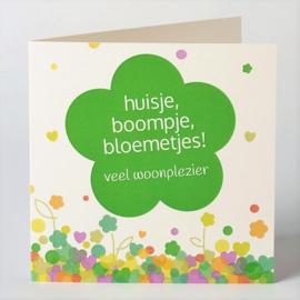 Huisje, boompje, bloemetjes