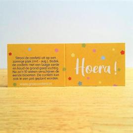 Hoera! | confetti met zaden van veldbloemen