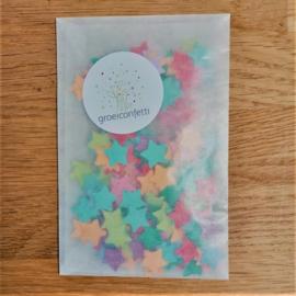 5 gram sterretjesconfetti  1,2 cm | bonte mix | veldbloemen
