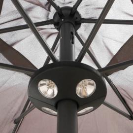 Parasol Ø 300CM + Voet 20KG Vierkant Betongevuld