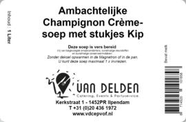 Champignon Crèmesoep met stukjes kip