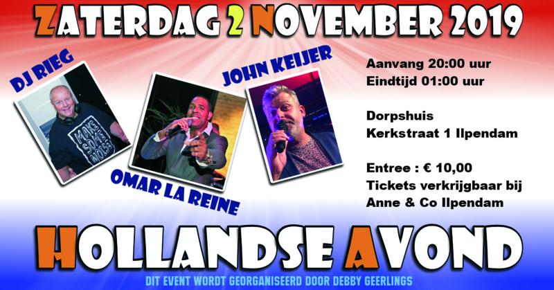Zaterdag 2 November 2019 - Hollandse Avond