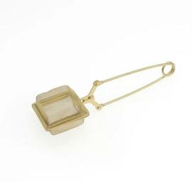 Thee ei vierkant (goud kleurig)