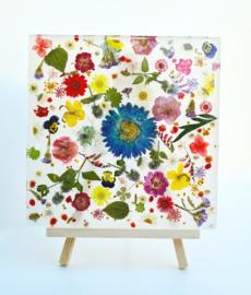 Epoxy art flower power
