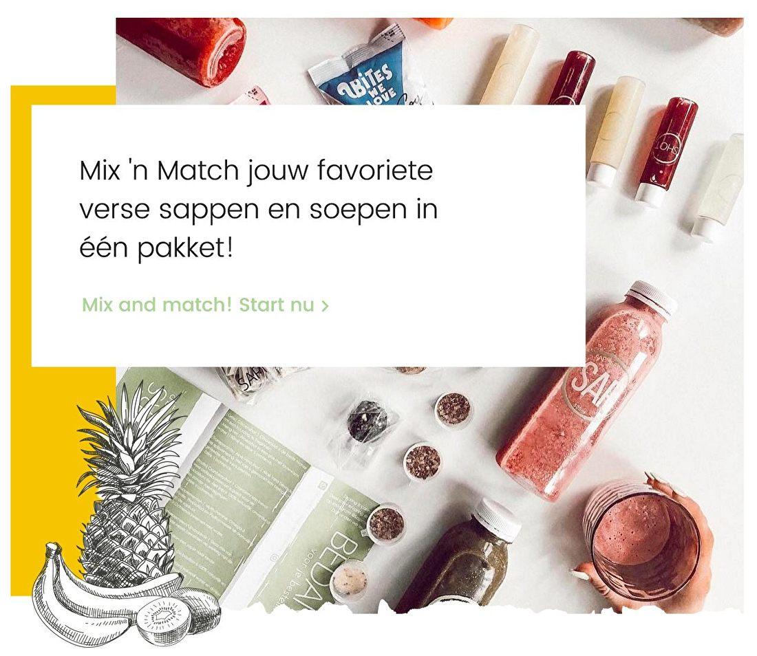 Sapmeesters - Mix 'n Match jouw favoriete verse sappen en soepen in een pakket