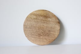 Hout rond onderbordje