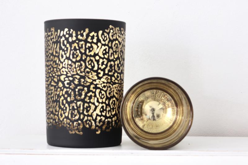 Glazen luipaard print