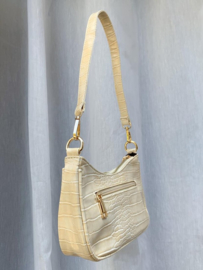 SOPHIE CROCO BAG OFF WHITE