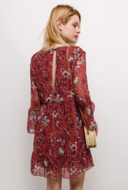 BURNT ORANGE FLORAL DRESS