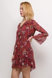 BURNT ORANGE FLORAL DRESS