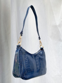 SOPHIE CROCO BAG BLUE