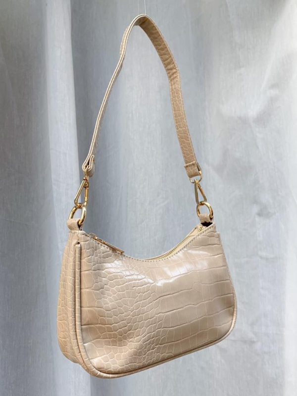 SOPHIE CROCO BAG BEIGE