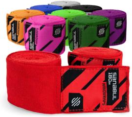 Sanabul Elastic Professional Bandages - 4,5 m - rood