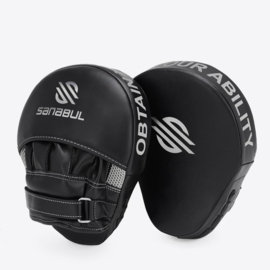 Sanabul Essential Curved Punch Mitts - zwart, zilver