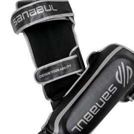 Sanabul Essential Hook and Loop Scheenbeschermers - zwart, zilver