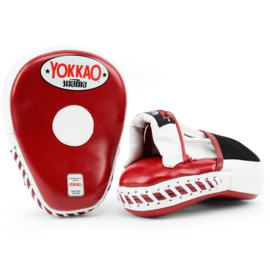 Yokkao Focus Mitts Closed Fingers - Leer - Biking Red, Wit