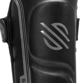 Sanabul Core Series Hook and Loop Shin Guards - black and metal