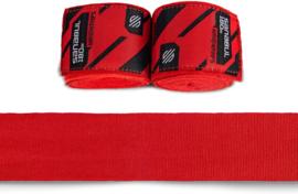 Sanabul Elastic Professional Handwraps - 4,5 m - red