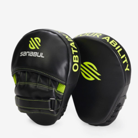 Sanabul Essential Curved Punch Mitts - zwart, groen